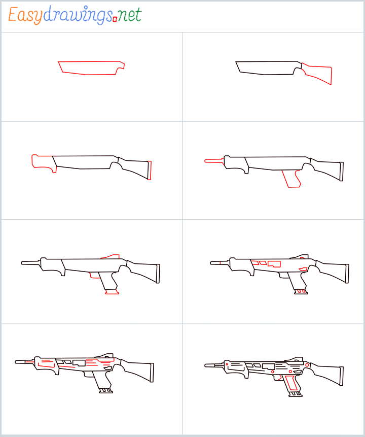 Overview for MAG-7 Gun drawing