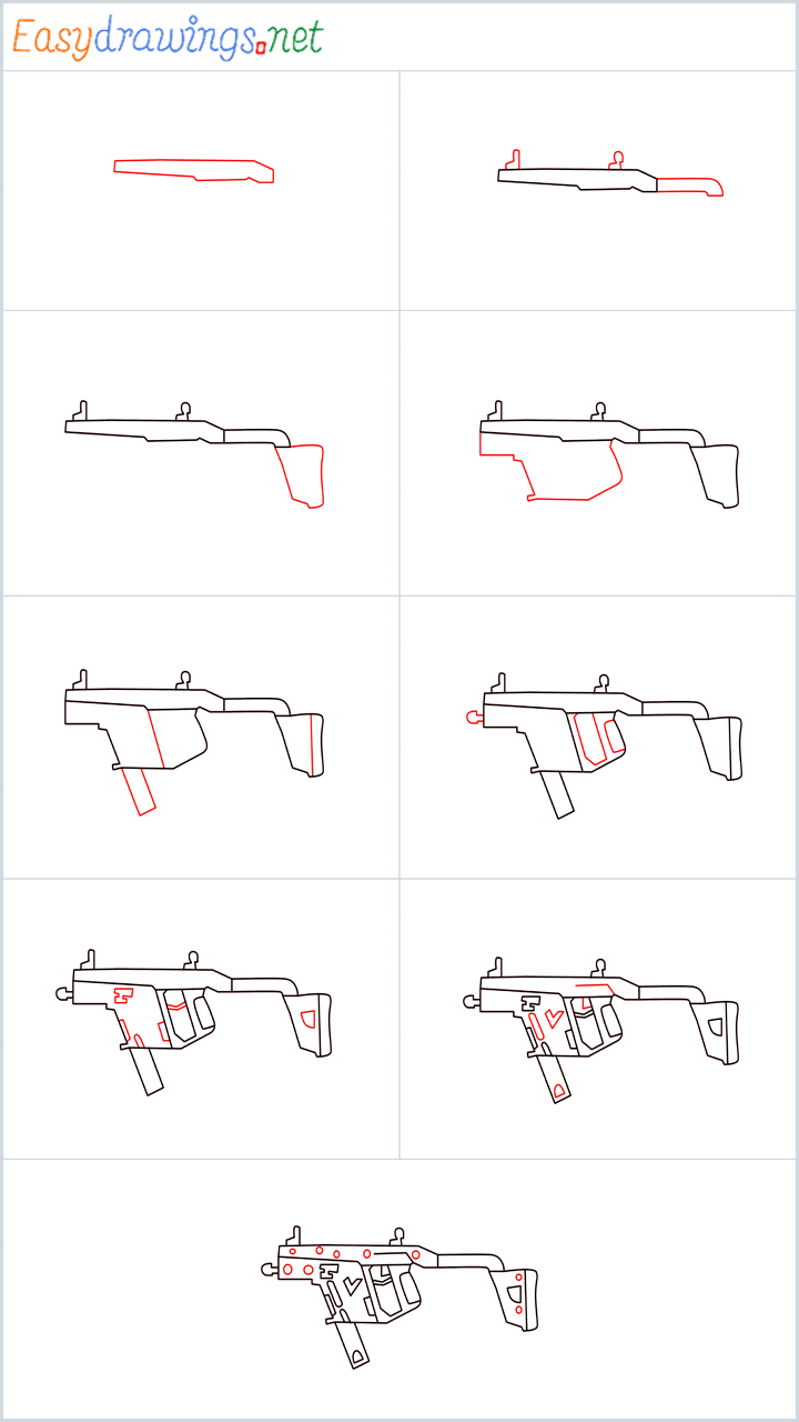 Overview for VECTOR Gun drawing
