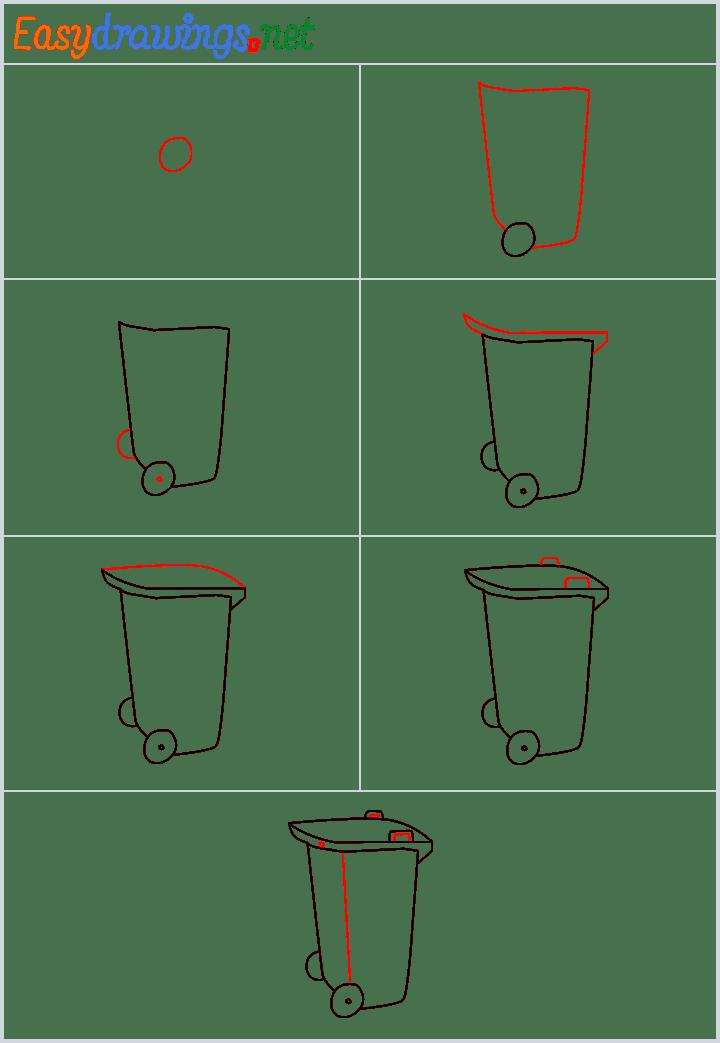 Overview for Wheelie bin drawing