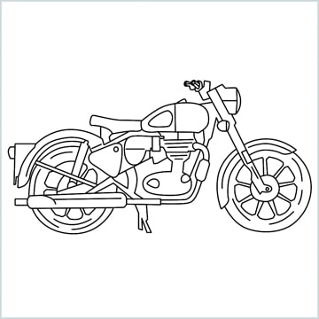 draw Bullet bike