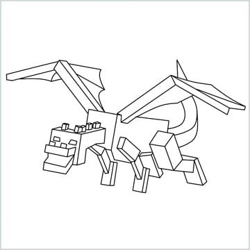 draw Ender Dragon