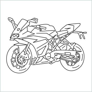 draw KTM bike