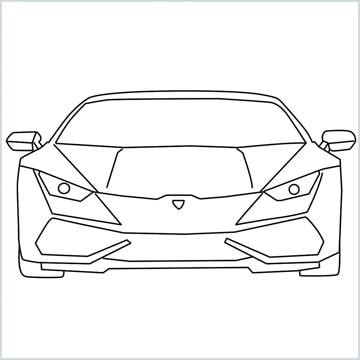 draw Lamborghini Huracan