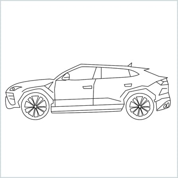 draw Lamborghini Urus