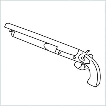 draw M1873 Gun