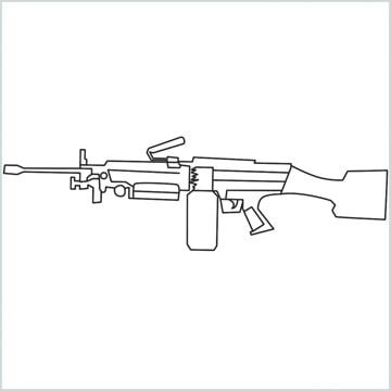 draw M249 Gun