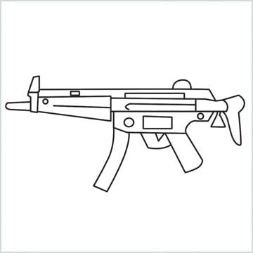 draw MP5 Gun