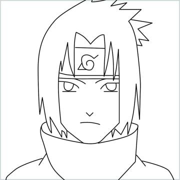 draw Sasuke