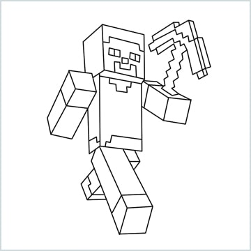 draw Steve from minecraft