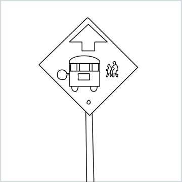 draw a Bus stop sign