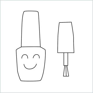 draw a Cute Nail Polish
