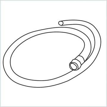 draw a Garden hose