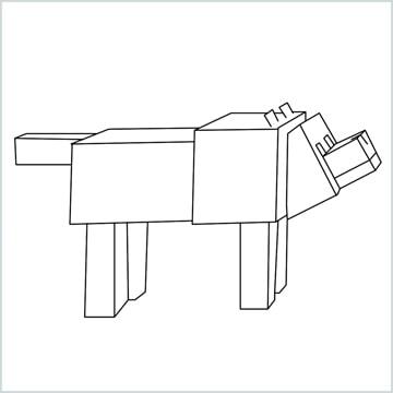 draw a Minecraft Dog