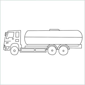 draw a Oil Tanker
