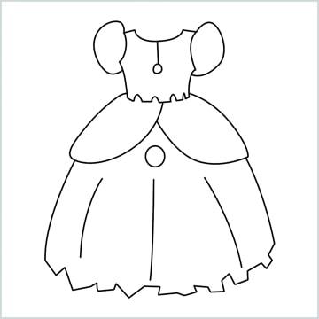 draw a Princess Dress