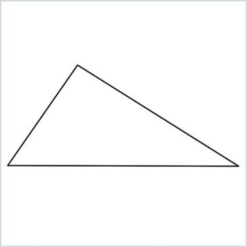 draw a Scalene triangle shape