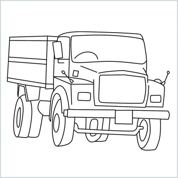 draw a Tipper lorry