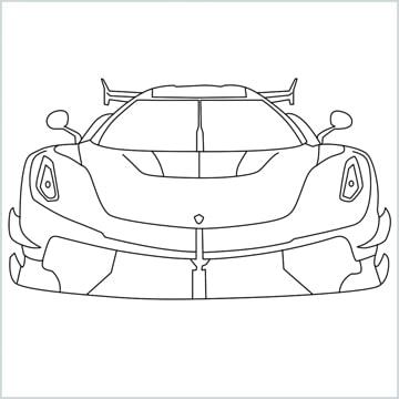 draw a sports car Koenigsegg Jesko