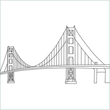 draw the Golden Gate Bridge