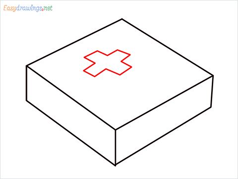 How to draw First aid kit step (4)
