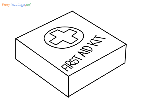 How to draw First aid kit step by step for beginners