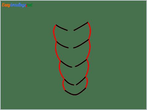 How to draw Sleeping bag step (2)