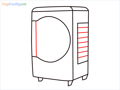 How to draw a Cooler step (6)