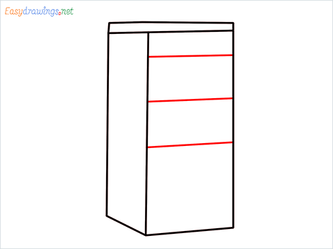 How to draw a Drawer step (4)