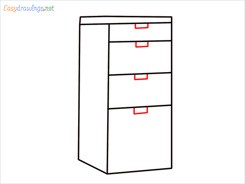 How to draw a Drawer step (5)