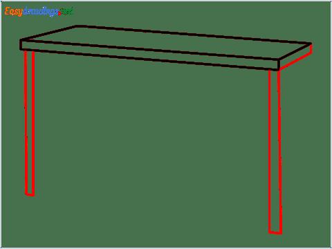 How to draw a Dresser step (3)