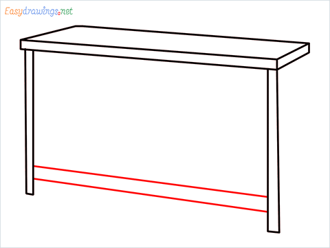 How to draw a Dresser step (4)