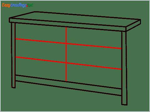 How to draw a Dresser step (5)