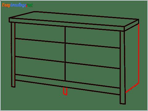 How to draw a Dresser step (6)