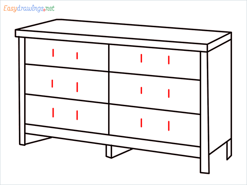 How to draw a Dresser step (8)