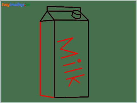 How to draw a Milk carton step (6)