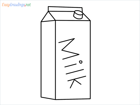 How to draw a Milk carton step by step for beginners