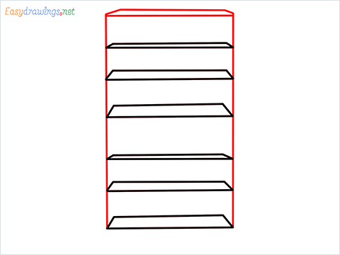 How to draw a Shelf step (3)