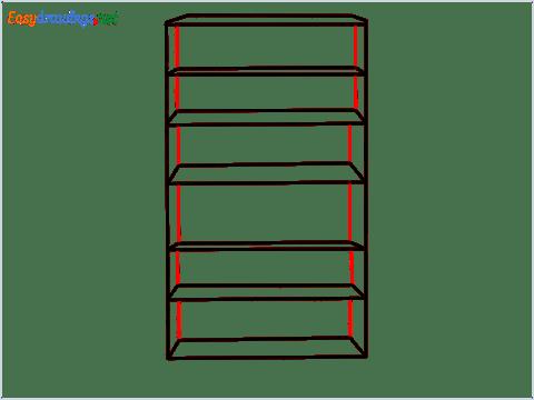 How to draw a Shelf step (4)