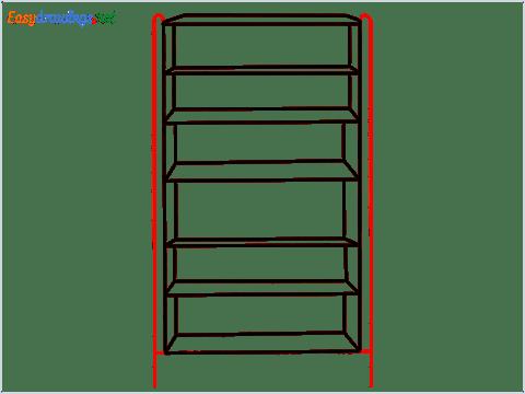 How to draw a Shelf step (5)