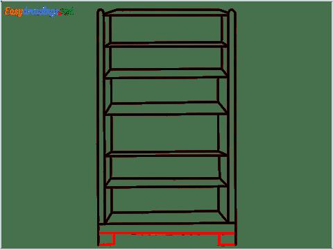 How to draw a Shelf step (6)