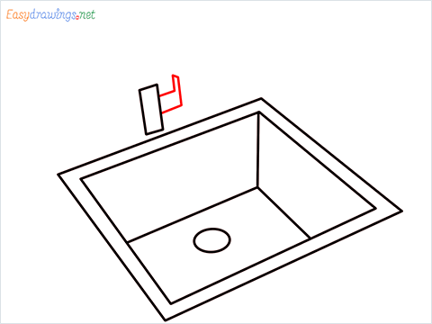 How to draw a Sink step (6)