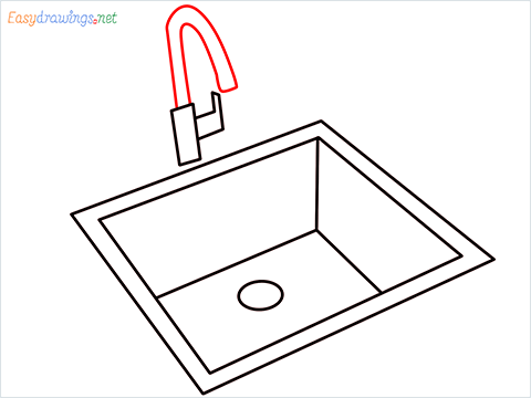 How to draw a Sink step (7)