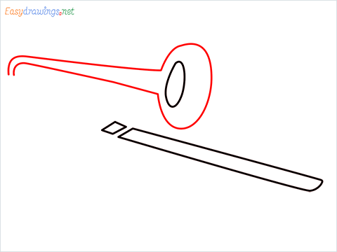 How to draw a Trombone step (4)