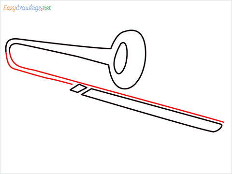 How to draw a Trombone step (5)