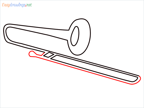 How to draw a Trombone step (6)