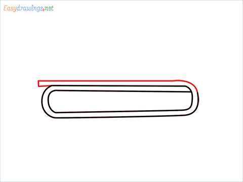 How to draw a Trumpet step (3)