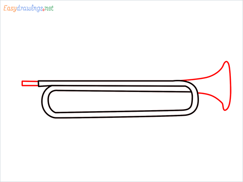 How to draw a Trumpet step (4)