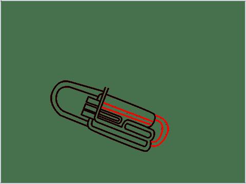 How to draw a Tuba step (7)