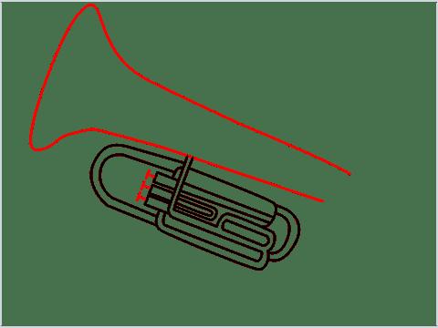 How to draw a Tuba step (8)