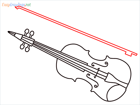 How to draw a Violin step (10)